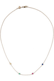 + Hasbro Twister By The Yard 14-karat gold multi-stone necklace