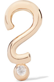 + Hasbro Question Mark 14-karat gold diamond earring