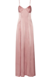 Michelle Mason Silk-blend satin gown