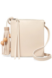 Sara tasseled leather shoulder bag