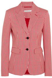 Fenice gingham cotton-blend twill blazer