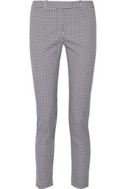 Henri gingham cotton-blend skinny pants