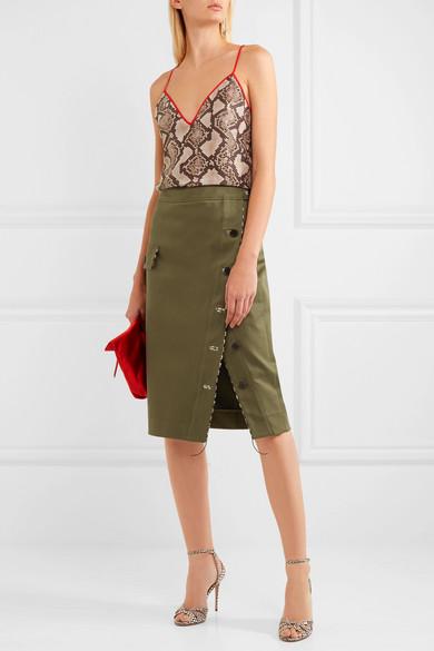 ALTUZARRA Curry Cotton-Blend Twill Skirt
