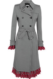 Altuzarra Mesquite embroidered gingham cotton-blend trench coat