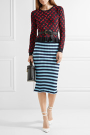 Altuzarra Clifton ruffle-trimmed jacquard-knit sweater