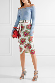 Altuzarra Wilcox printed cotton-blend wrap-effect skirt