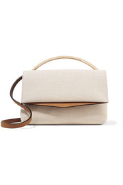 Boyd Vanity leather-trimmed cotton-canvas shoulder bag