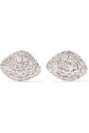 Monica Vinader Nura rose gold vermeil diamond earrings