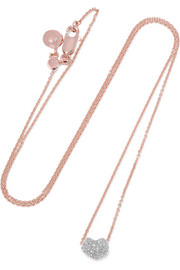Nura rose gold vermeil diamond necklace