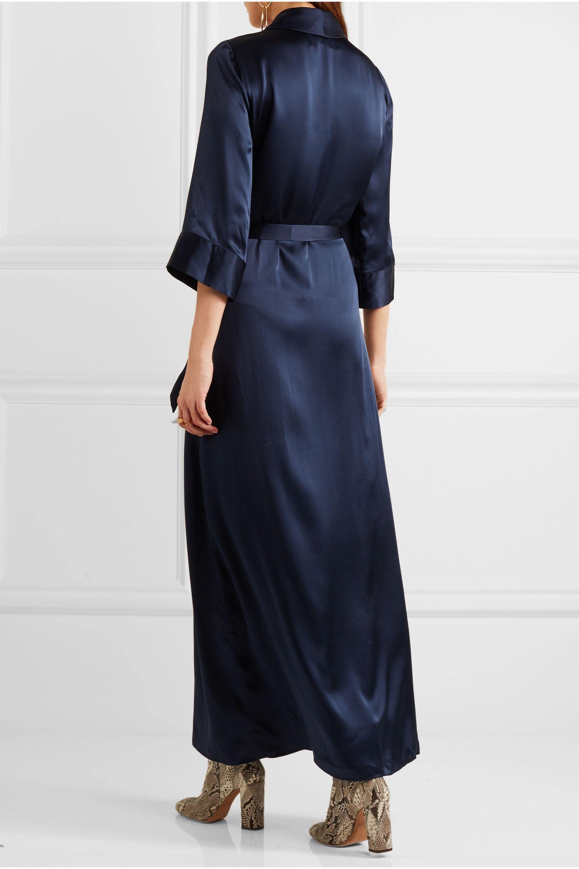 Reformation Silk wrap maxi dress