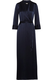Silk wrap maxi dress
