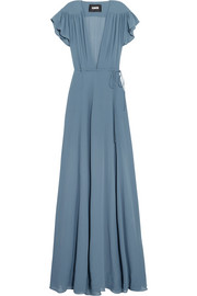 Georgette wrap maxi dress