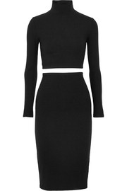 Reformation Two-piece ribbed-jersey dress