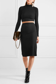 Two-piece ribbed-jersey dress