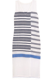 LemLem Aziza striped cotton-blend gauze midi dress