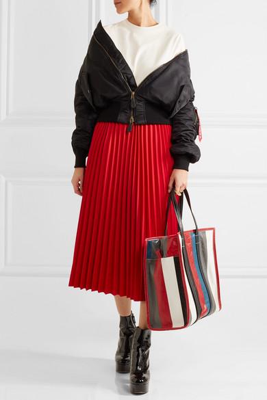 199dccccb Balenciaga   Bazar medium striped textured-leather tote   NET-A ...