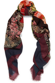 Balenciaga Kaleidoscope printed wool and silk-blend scarf
