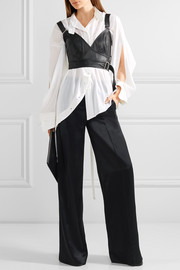 Calvin Klein Collection Linnetra leather wrap bustier top