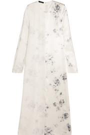 Larrew floral-print silk crepe de chine dress