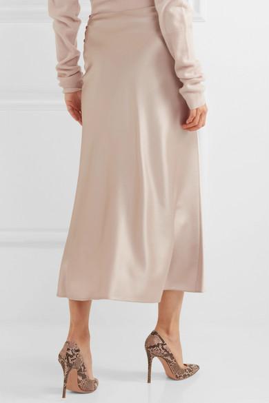 ff04ca6e83 Calvin Klein Collection. Kristina silk-satin midi skirt. $696.50. Play