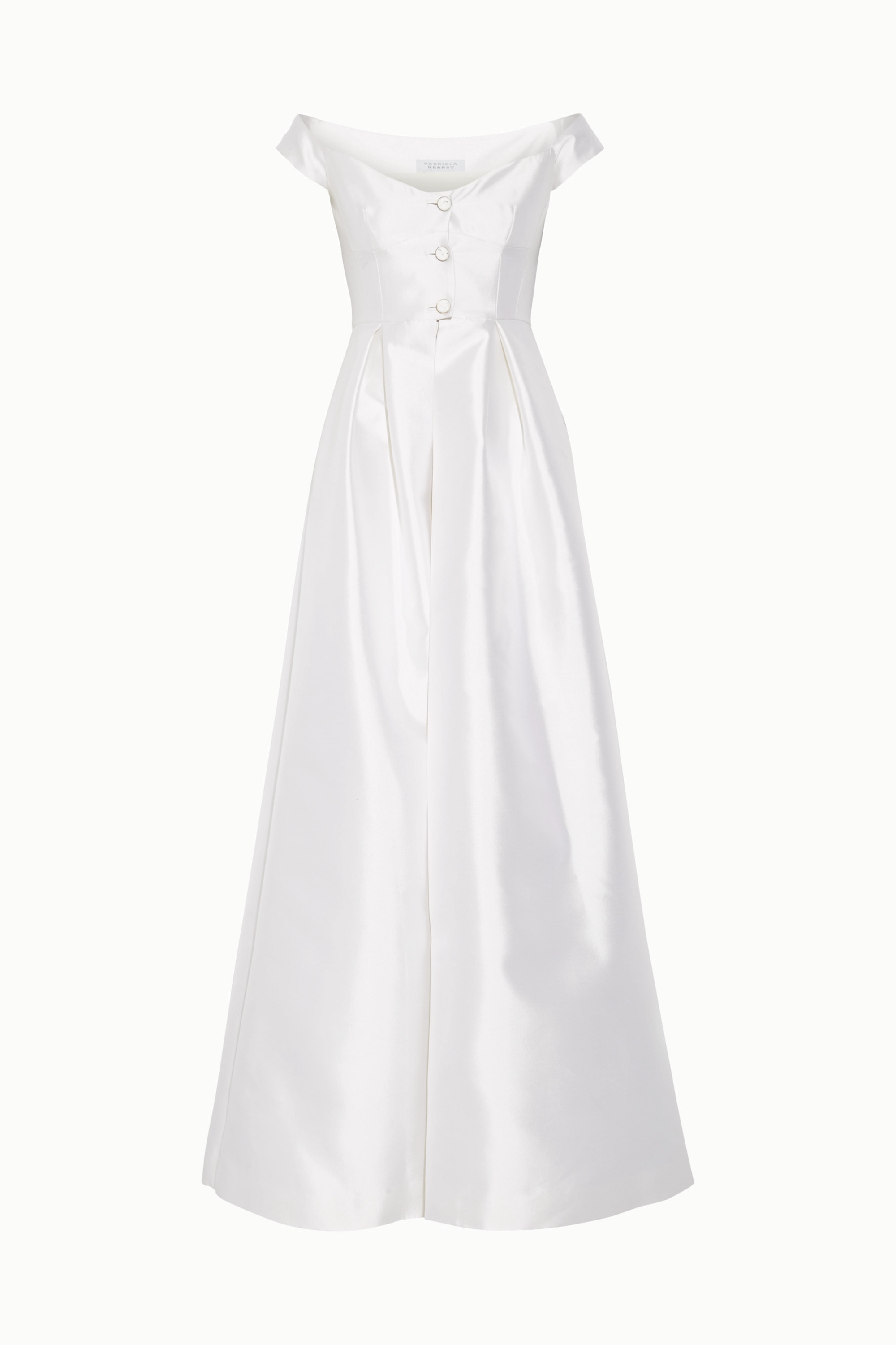 Gabriela Hearst Tituba off-the-shoulder silk and wool-blend gown