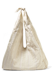 The Row Bindle pleated silk-organza shoulder bag
