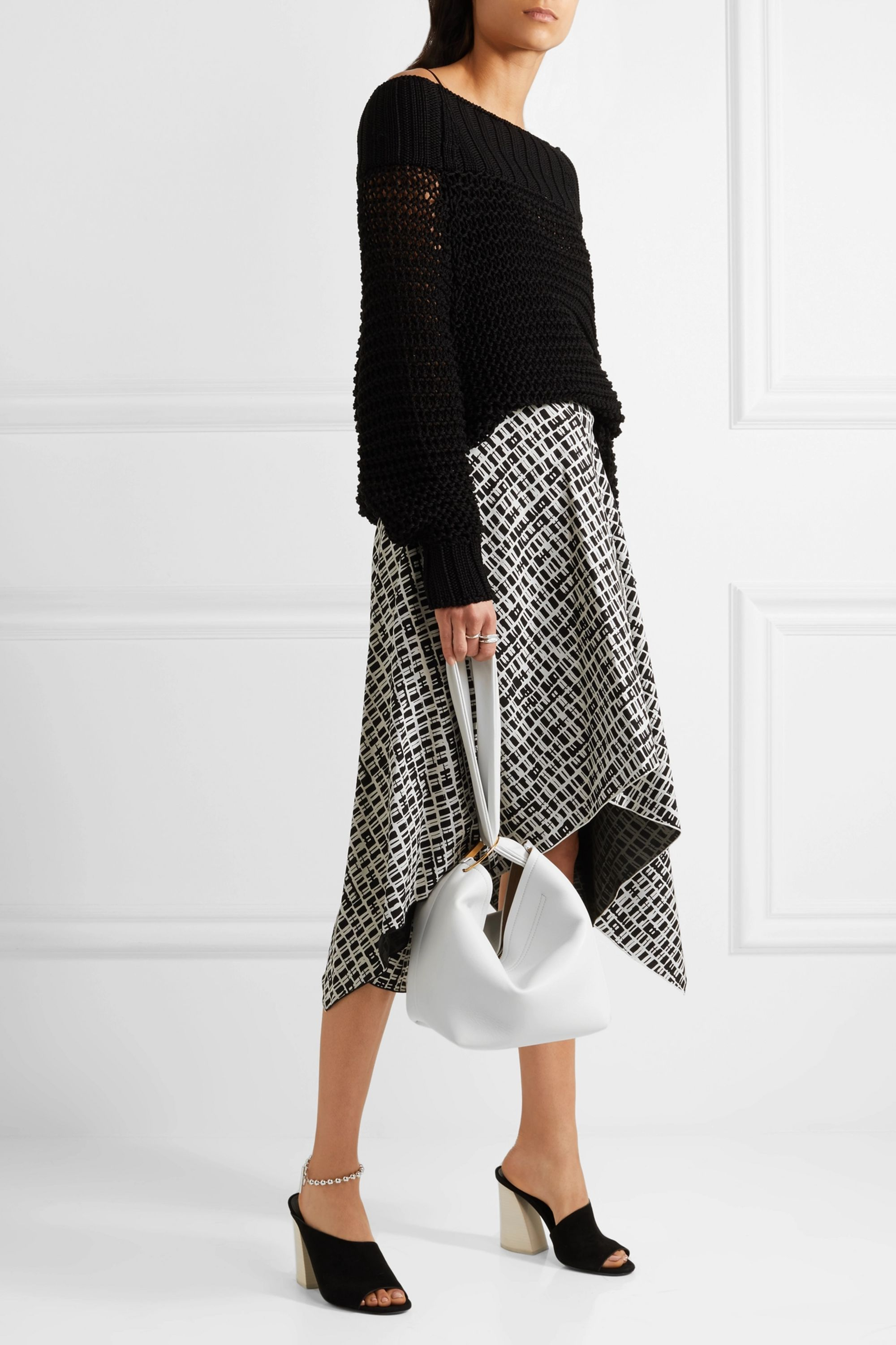 Victoria Beckham Tissue leather clutch
