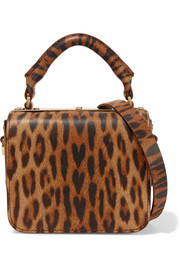 Finsbury small leopard-print leather shoulder bag