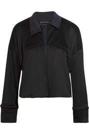 Cropped ribbed stretch-Supplex jacket