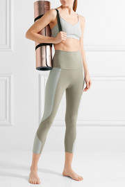 Paneled stretch-Supplex leggings