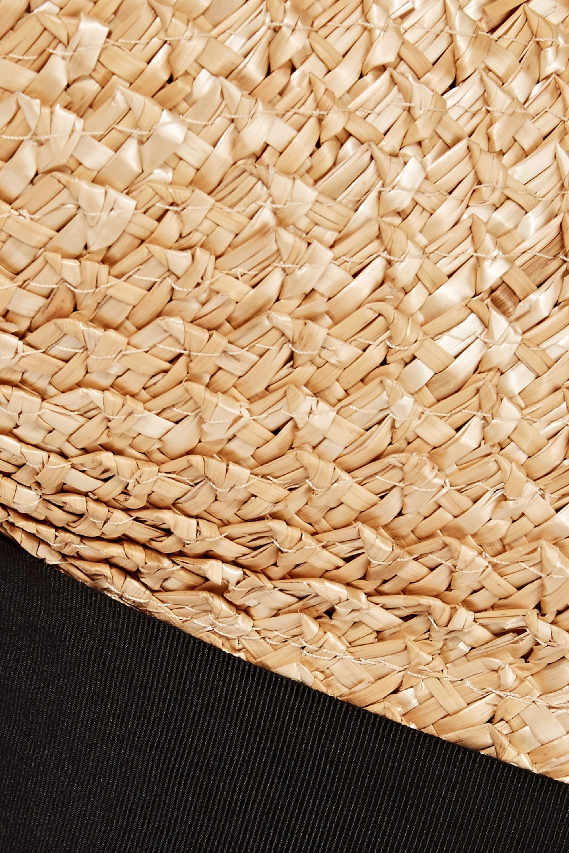 Eugenia Kim Flavia grosgrain-trimmed straw tote