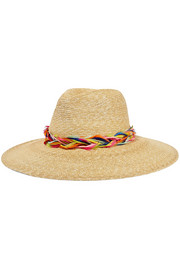 Eugenia Kim Emmanuelle feather-trimmed straw sunhat