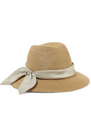 Eugenia Kim Lillian bow-embellished woven paper sunhat