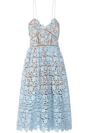 Azaelea guipure lace midi dress