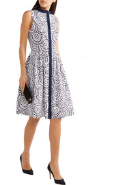 Oscar de la Renta Printed cotton-blend poplin dress