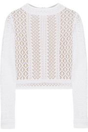 Oscar de la Renta Crocheted lace top