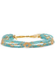 Gold-plated turquoise bracelet