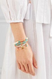 Chan Luu Gold-plated turquoise bracelet