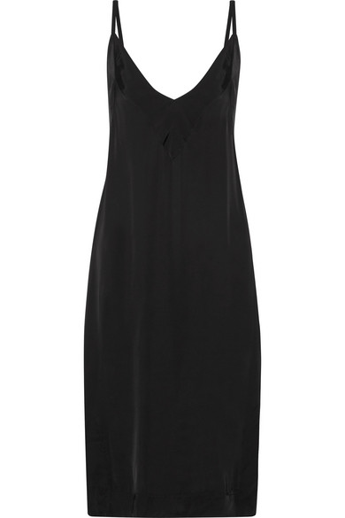 Bassike - Charmeuse Slip Dress - Black