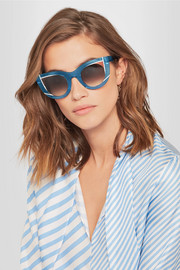 Wavvvy cat-eye acetate sunglasses