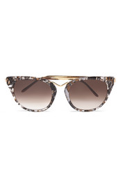 Thierry Lasry Hinky cat-eye acetate and gold-tone sunglasses