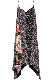 rag & bone Londar asymmetric floral-print crepe midi dress