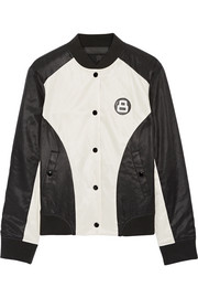 rag & bone Morgan reversible printed satin-twill bomber jacket