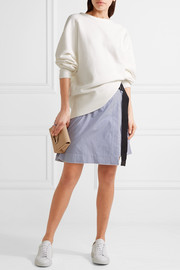 rag & bone Racer oversized French cotton-terry sweatshirt