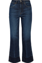 Lou cropped high-rise straight-leg jeans