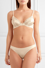 Macrame Tale lace and stretch-jersey briefs