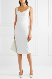 Victoria Beckham Silk satin-trimmed stretch-crepe dress