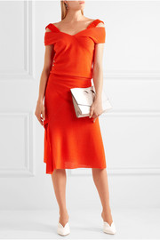 Victoria Beckham Asymmetric stretch-knit midi skirt