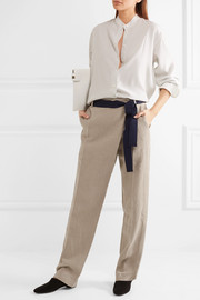 Victoria Beckham Linen tapered pants