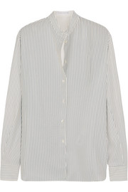 Victoria Beckham Striped silk crepe de chine shirt